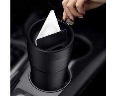 LYCOS3 Dust Trash Can, Multifunzione Office Storage Portamonete Auto Mini Tazza di plastica Cestino per casa Auto Ufficio, Nero, Taglia Libera