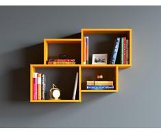 HOMIDEA Bend Mensola da Muro - Mensola Parete - Mensola Libreria - Scaffale pensile per Studio/Soggiorno in Design Moderno (Arancio)