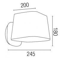 Sweet proiettore Barcellona 29953-Applique, 15W, metallo, protezione schermo, in tessuto, colore: nero