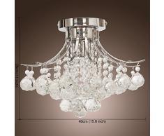 Lampadari,Create For Life® 3 luce lampadario di cristallo moderno, Mini Style, montaggio a filo, della luce di soffitto, per lo studio,ufficio, sala da pranzo, camera da letto, Soggiorno, finitura cromata