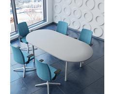 Weber - Tavolo professionale per riunioni, 200 x 100 cm, Optima 4-6 persone
