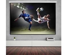 """Bakaji Schermo per Proiezione Videoproiettore 100"""" Home Cinema Telo Proiettore 203 x 152 cm FULL HD TV"""