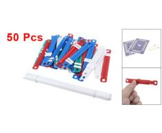 50 Set Ufficio Scuola Colorato Plastica Rilegatura Documenti Carta Elementi Di Fissaggio