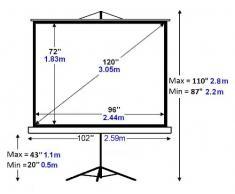 Platinum - Telo/schermo con treppiede per proiettore 4:3, 304 cm
