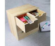 Mini cassettiera in legno con 6 cassetti | Cassetti portaoggetti per cucito e artigianato | Organizzatore da scrivania | Contenitori per giocattoli | Organizzatore di guardaroba | Pukkr