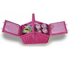 Studio 100 MEHI00000200 - Set da picnic con stoviglie in metallo e cestino, motivo: Heidi