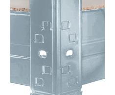 Scaffale Metallico Office Marshall® Mammut | Carichi Pesanti | Certificato TÜV/GS | Scaffale Acciaio | capacità di carico 875 kg o 1400 kg | Zincato, 200x90x60cm