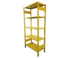 Castellani STORETS_Y_30 Scaffalatura di Design, Metallo, Giallo, 108x30x180 cm