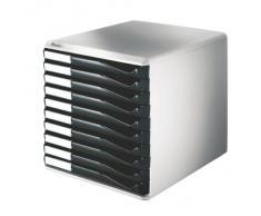 Leitz 528-00-95 - Cassettiera da scrivania, 10 cassetti, colore: Nero