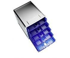 Rotho 1106706159 Cassettiera Spacebox con 5 cassetti aperti