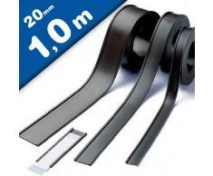 Etichette magnetiche per scaffalature e arredi metallici - Profili a C / etichette magnetiche, larghezza 20 mm, venduto al metro