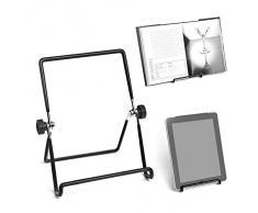 Balvi - Supporto Tablet Porta iPad Black Leggio da Tavolo in Metallo Porta Ricettario