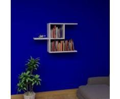 HALF Mensola da muro - Bianco - Mensola Parete - Mensola Libreria - Scaffale pensile per studio / soggiorno in Design moderno