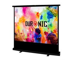 """Duronic FPS100 /43 schermo di proiezione 100"""" formato 4:3 / 203 X 152 cm - telo proiettore retrattile auto-portante per videoproiettore Full HD 3D 4K - Home cinema home theater ufficio"""