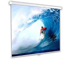 """Schermo Proiezione manuale a molla 244x244cm, Telo da Videoproiettore Avvolgibile 244 x 244cm """"Classic"""" ottimo per ogni Proiettore 100% Professionale di Qualità Superiore HD!"""