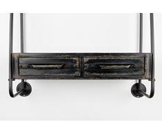 Felis Lifestyle 7600007 Scaffalatura Feng, Metallo, Nero, 81 x 25 x 85.5 cm