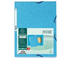 Exacompta Europa Cartelletta A4 24 x 32, azzurro, pacco da 10, carta lucida