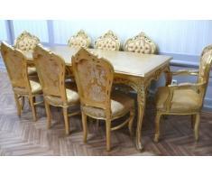 Barocco per la sala da pranzo tavolo sedia Armlehner in stile antico barocco Louis XV AIEs0690go