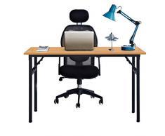 Need Tavoli Pieghevole 120x60cm Scrivanie Studio Tavoli Ufficio Postazioni di lavoro per Computer in Legno Scrivania, Colore Rovere Teak