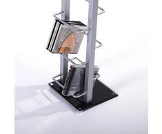 SCAFFALE PORTA CD | colore argento, alluminio, 138 cm | per 126 CDs