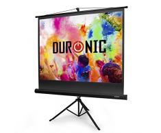 """Duronic TPS50 /43 Schermo di proiezione 50"""" formato 4:3/102 X 76 cm - telo proiettore con piedistallo treppiede per videoproiettore Full HD 3D 4K - Home cinema home theater ufficio"""