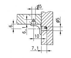 Spalline PiHaMi mountrose fondo 5 mm 20 pcs con 2 cuneo naso scaffalatura in Metallo multidock d'acero istituzione mountrose