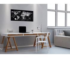 SIGEL GL270 Lavagna magnetica di vetro/bacheca di vetro Artverum, Design Mappamondo, 91 x 46 cm