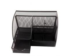 PIXNOR Contenitore Organizzatore penna titolare della maglia cancelleria per ufficio scrivania (nero)