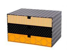 Goldbuch 85603 - Cassettiera da scrivania grande, giallo