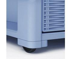 Cassettiera con ruote e 4 cassetti effetto vimini modello Elegance della Stefanplast colore bianco