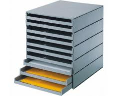 Styro 23102-85 - Scatola ufficio con cassettini, 246x335x323mm, grigio