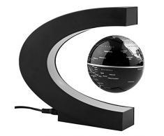 Arvin Globe 360 ° LED luce C forma magnetico Levitazione fluttuante globo mappa del mondo anti Gravity ufficio tavolo da decorare, Misteriosamente sospeso in aria mappa del mondo per apprendimento insegnamento insegnamento casa