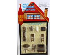 Miniatura Per Casa Delle Bambole 1:48 In Scala In Plastica Studio Ufficio Mobili Set