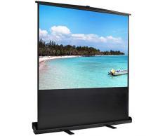 Schermo proiettore portatile, Schermo proiettore da pavimento, 163 x 123 cm, Materiale: White matte, Aspect ratio: 4:3