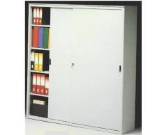 Ideapiu ARMADI Metallici per Ufficio Armadio Metallico Porte SCORREVOLI CM. 150 LUNGH. X 45 Prof. X 200 H