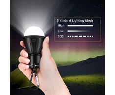 WJRX Lampade LED Campeggio,Lampada LED da Campeggio,Lanterna Lampada Portatile per Giardino,Scrivania,Armadio,Campeggio,Pesca,Barbecue(3 Pezzi)