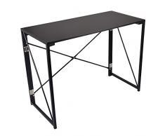 Dripex pieghevole scrivania pieghevole portatile scrivania pieghevole studio scrivania ufficio Worksation casa tavolo Black
