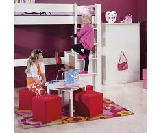 NJA Furniture Kids World - Scrivania con 2 cassetti, 73 x 88 x 50 cm, colore: Bianco