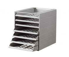 Durable 1712002050 Idealbox Basic 7 Cassettiera da Scrivania con 7 Cassetti con Frontalini Aperti, Confezione da 1 Pezzo, Grigio