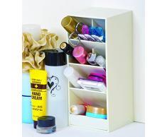 Carl, taglia: L, colore: bianco, motivo: cancelleria e da scrivania/casa/ufficio, cosmetic Organizer porta trucco con supporto per penne