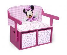 Disney - Cassapanca portagiochi Minnie Mouse convertibile in scrivania