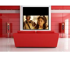 TELO SCHERMO MANUALE A MOLLA AVVOLGIBILE VIDEOPROIETTORE PROIETTORE DA PROIEZIONE PROVIS 97x111 cm 16:9 HD - S26155