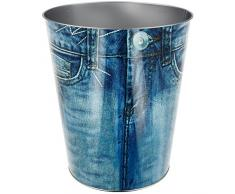 Promobo – Pattumiera a carta cestino di ufficio aspetto Pantaloni Jean