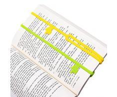 Crivers 10PCS innovative silicone finger Pointing Bookmark Book Marker per ufficio forniture materiale scolastico cancelleria Gift (colori assortiti)