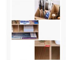 Dr Nezix Supporto per contenitori per archivio di file Forniture per ufficio Forniture per ufficio Organizzatore DIY Scrivania a fogli mobili in legno multilayer A4 / A5 Scrivania a fogli mobili per documenti cartacei