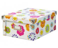 Zeller 17852 Contenitore Kids, Paper, Multicolore, 26.5x31.5x14.5 cm