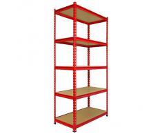 3 unità Z-Rax Garage scaffalatura Scaffalature 90 centimetri di storage resistente 360kg Ripiani / scaffale di metallo 5 Livello enorme 5400kg Capacità