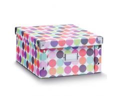 Zeller 17892 Contenitore Dots, Paper, Multicolore, 31x26x14 cm