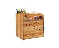Organizer da scrivania in legno con organizzatore per documenti con serratura, formato A4, contenitore per cancelleria, per casa, ufficio e scuola