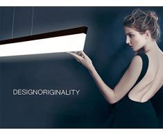 ART LAMPS Lampade a luce LED moderno semplice elegante ufficio, molto luminoso adatto per lavoro camera Home Design a sospensione lampada luce sorgente, alluminio e Plexiglass acrilico soffitto lampada, zona di irradiazione 30